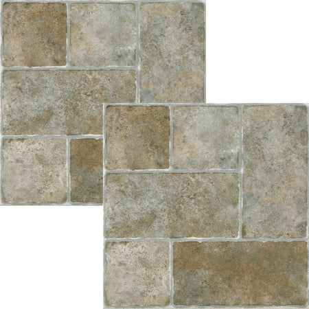 NEXUS Quartose Granite 12x12 Self Adhesive Vinyl Floor Tile - 20 Tiles/20 Sq.Ft., 2 (Discount Granite Tiles)