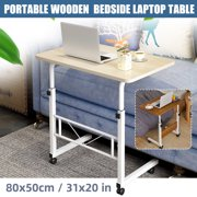 Lifting Computer Adjustable Desk Beside Bed Sofa Stand Mobile Desk 31x20x(27.6-35.4)inch