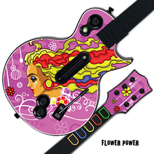 Mightyskins Protective Skin Decal Cover Sticker for GUITAR HERO 3 III PS3 Xbox 360 Les Paul - Flower Power