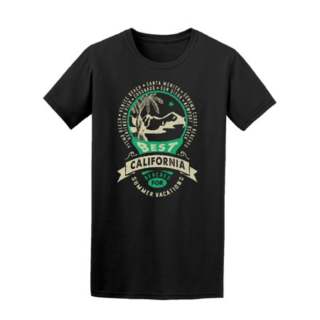 Best Californai Summer Vacations Tee Men's -Image by (Best Solo Vacations For Men)