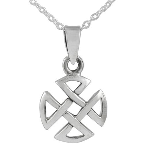 "Brinley Co. Circular Celtic Sterling Silver Cross Pendant, 18"""