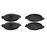 4pcs Black Plastic Auto Windscreen Wiper Fluid Reservoir Cap Covers