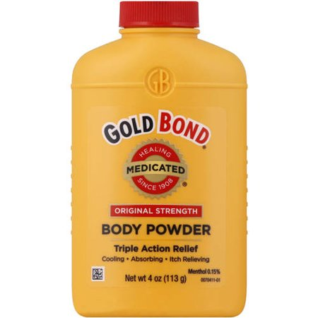 (2 pack) Gold Bond Original Strength Medicated Body Powder, 4 (Gold Bond Medicated Powder For Yeast Infection)