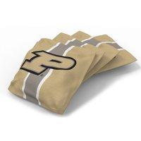Purdue Boilermakers 4-Pack Striped Alternate Cornhole Bean Bags Set - No Size
