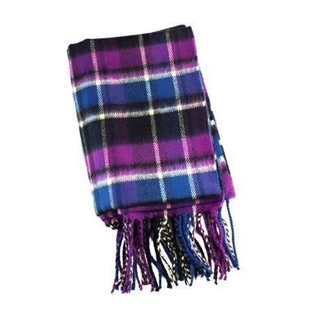 f205c5dac Scarves Galore Cashmere Scarf Tartan Plaid Purple/Black/Blue ...