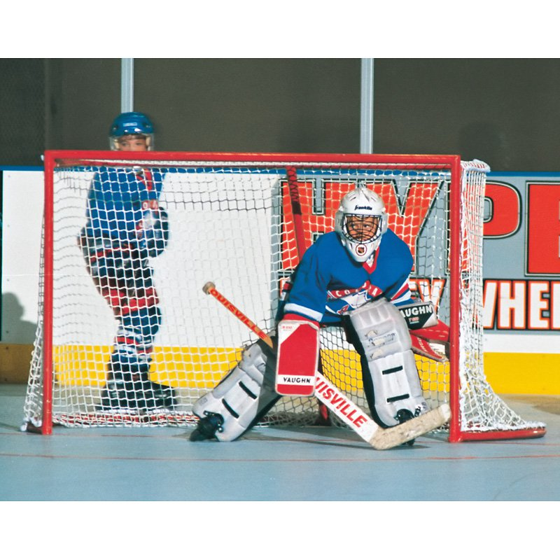 Set of 2- Deluxe 4 x 6 ft. Ice Hockey Goals by Goal Sporting Goods Inc