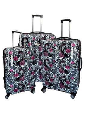 a2069004f Free shipping. Product Image Floral Multicolor 3-piece Hardside Spinner  Luggage Set. Karriage-Mate