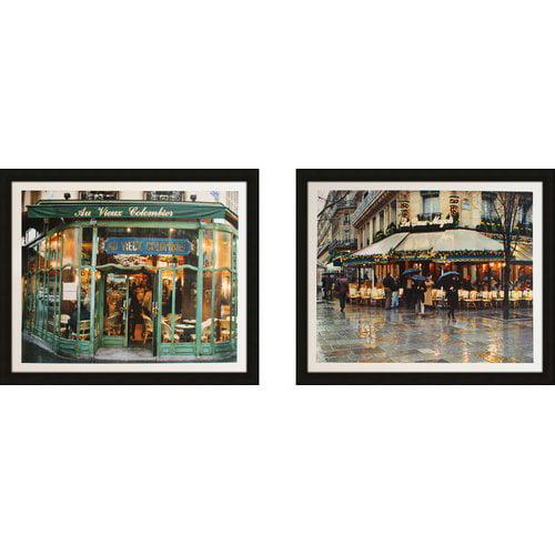 Latitude Run 'Au Vieux Colombier' 2 Piece Framed Photographic Print Set