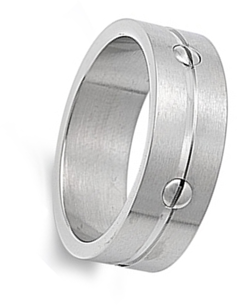 Men/'s Screw Ring Wholesale Polished Stainless Steel Band New USA 8mm Sizes 7-13