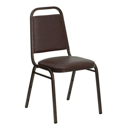 A Line Furniture Rosemary Brown Upholstered Stack Dining Chairs