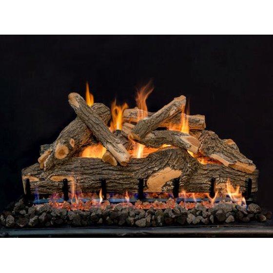 36 Arizona See Thru Weathered Oak 9 Piece Log Set Walmart Com