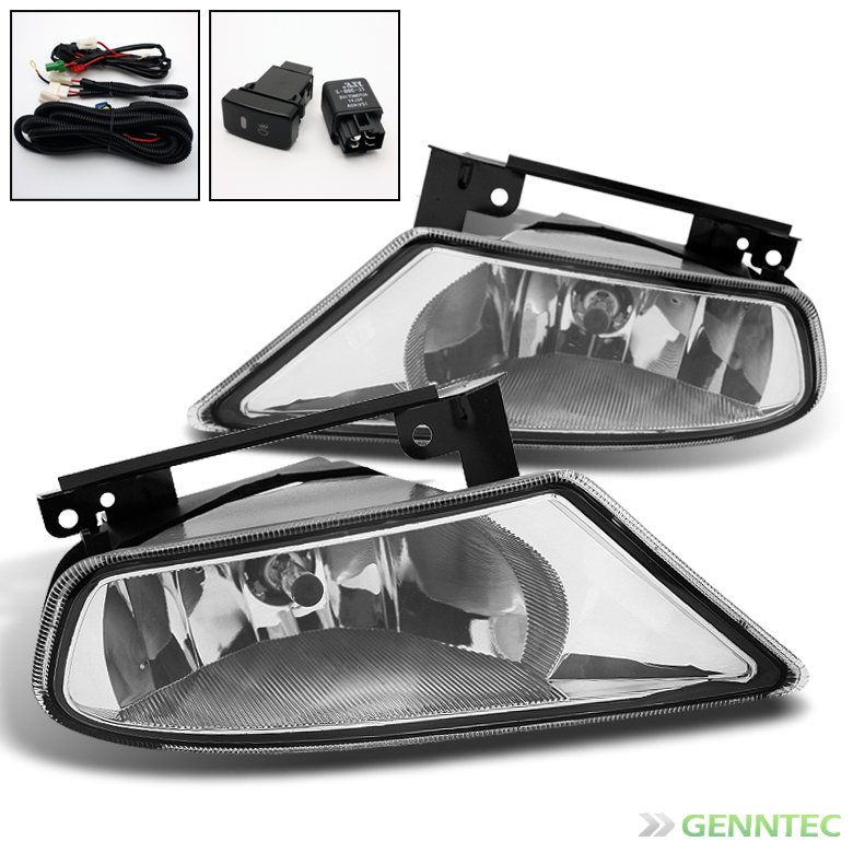 2005-2007 Honda Odyssey Replacement Fog Lights Lamp+Bulbs+Switch+Harness Set 2006 Pair Left+Right