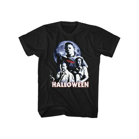 Halloween Scary Horror Slasher Movie Film Whole Ensemble Adult T-Shirt Tee](Scary Family Films Halloween)