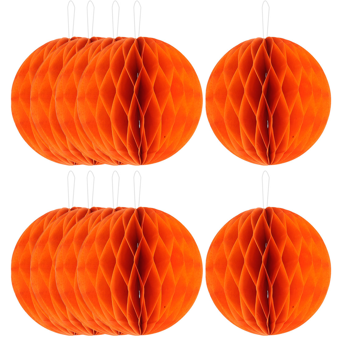Paper Wall Window Door DIY Decoration Honeycomb Ball Orange 4 Inch Dia 10 Pcs