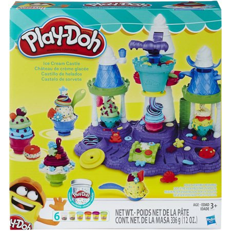 Play-Doh Ice Cream Castle Food Set with 6 Cans of Dough (D2h Cable)