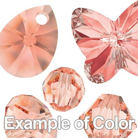 Swarovski Crystal, #2854 Butterfly Flatback Rhinestone 12mm, 2 Pieces, Rose Peach F