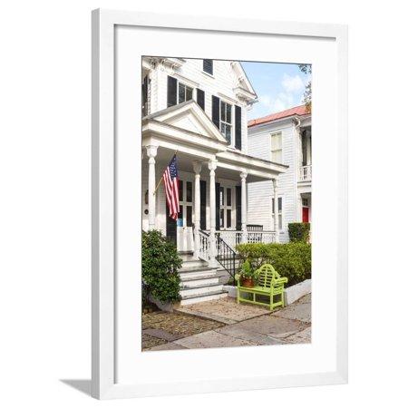 USA, South Carolina, Charleston, Typical house in the historic centre Framed Print Wall Art By Jordan (South Beach Jordans)