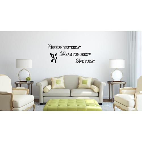 To Love and to Cherish quote Flower Wall Art Sticker Decal