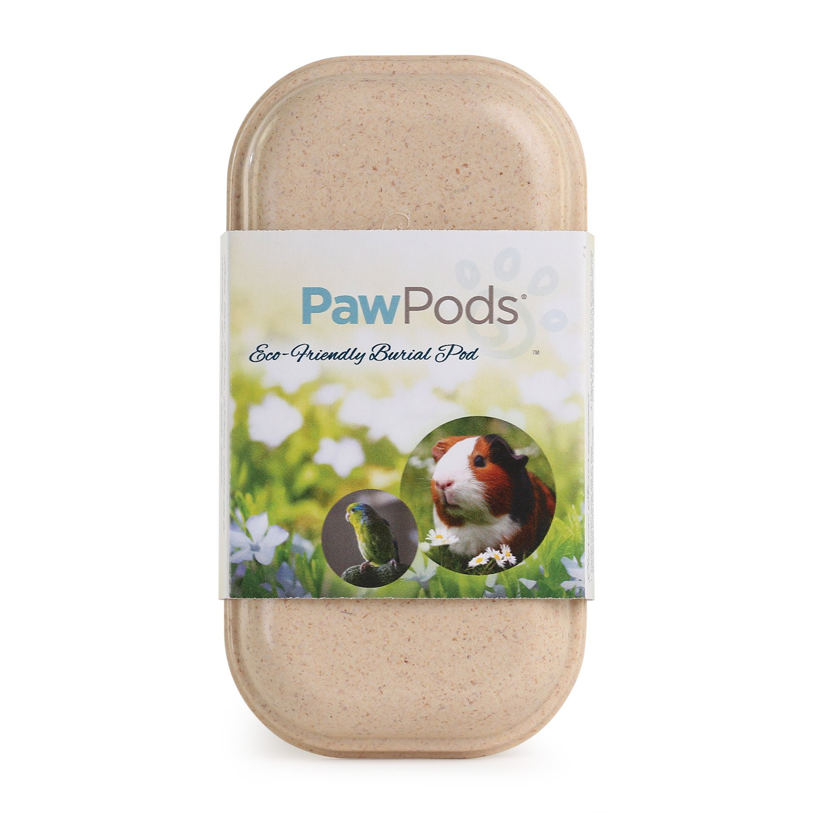 Paw Pods Biodegradable Pet Burial Pod with Seeded Leaf - Mini