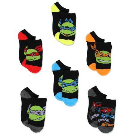 TMNT Teenage Mutant Ninja Turtles Boys 6 pack Socks - Ninja Turtle Knee High Socks