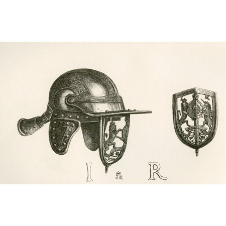 Casque Of King James Ii With Cheek Pieces And Perforated Steel Visor Representing The Royal Arms With Scroll Work Of Thistles Below From The British Army Its Origins Progress And Equipment Published 1