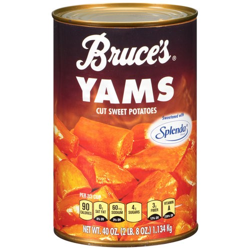 Bruce's Yams Cut Sweet Potatoes Sweetened With Splenda, 40 Oz