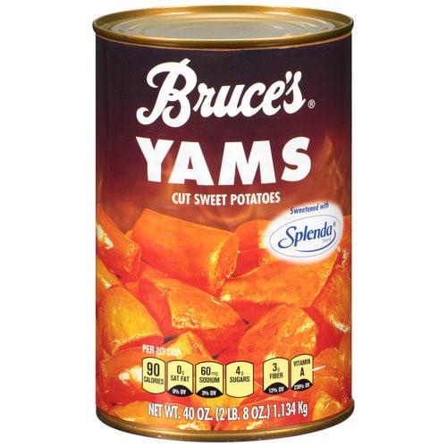 Bruce's Yams Cut Sweet Potatoes Sweetened With Splenda, 40 Oz