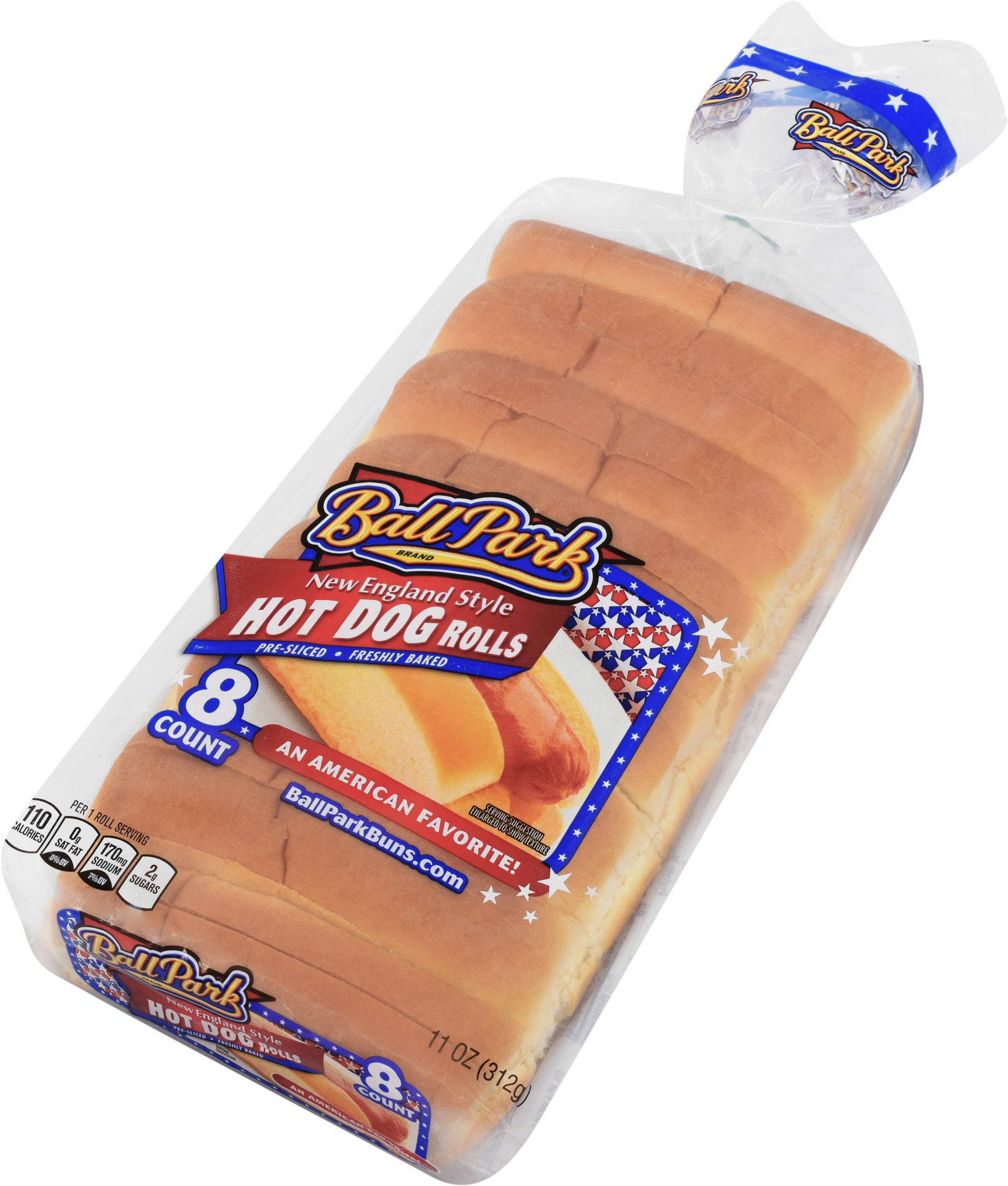 Ball Park New England Style Hot Dog Rolls 8 Count 11 Oz   Walmart.com