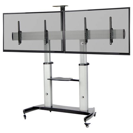 VIVO Ultra Heavy Duty Mobile Rolling TV Stand for Flat Screens up to 60"