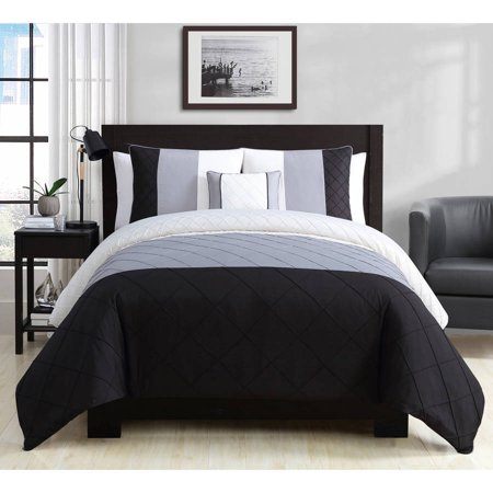 6c5d7d0f45 Better Homes and Gardens Banded Oynx 4-Piece Bedding Duvet Set - Walmart.com
