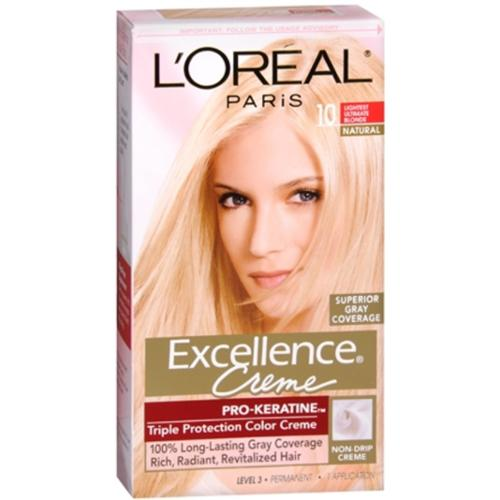 L'Oreal Paris Excellence Creme Haircolor, Lightest Ultimate Blonde [10] 1 ea (Pack of 2)