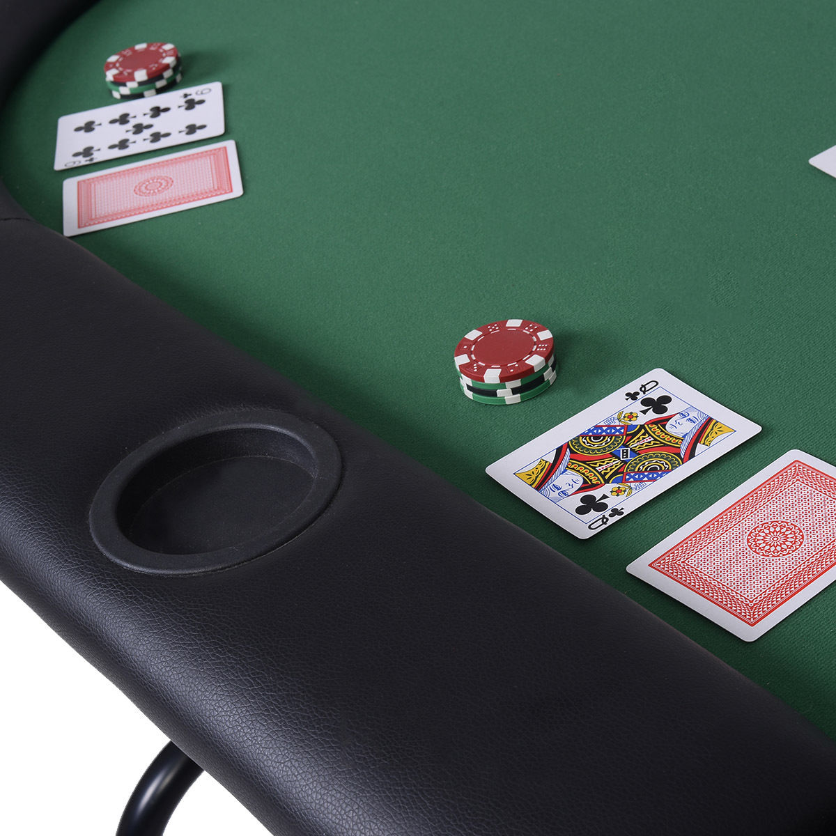 Costway Foldable 8 Player Poker Table Casino Texas Holdem Folding Poker  Play Table   Walmart.com