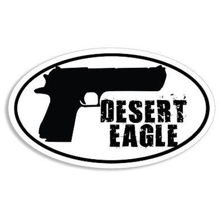 3x5 inch Oval Desert Eagle Pistol Sticker - decal gun ammo nra handgun 547 gas