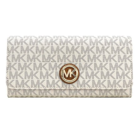 Michael Kors Signature Fulton Flap Continental Carryall Wallet, (Turnlock Flap Wallet)