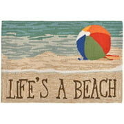 TransOceanImports 7FP8S151612 Frontporch Lifes A Beach Sand Square Pillow