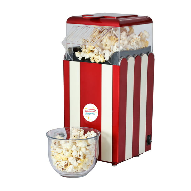 Brentwood Pc 488r Classic Striped 8 Cup Hot Air Popcorn Maker