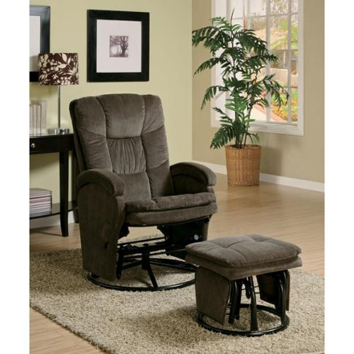 Chocolate Deluxe Glider Rock with Ottoman
