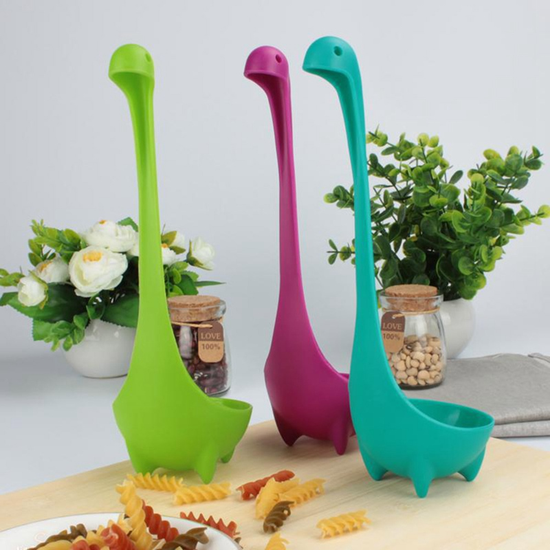1pc Creative Soup Spoon Cute Dinosaur Stand Vertical Oat Spoon Kitchen
