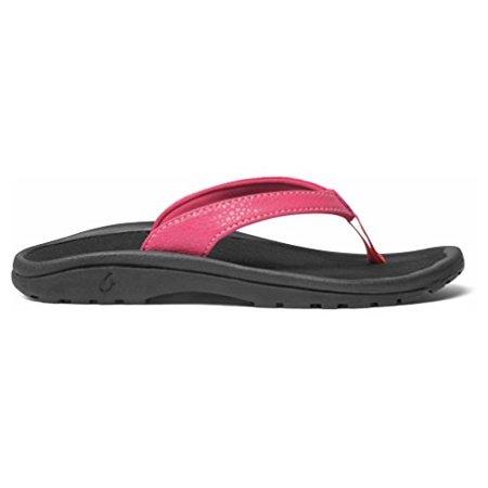 OLUKAI Kulapa Kai Sandal - Girls Bikini Pink/Black (Bikini Shoes)