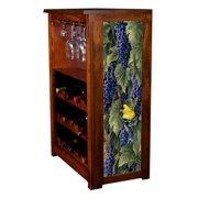 """Vineyard Goldfinches"" Wine Cabinet"