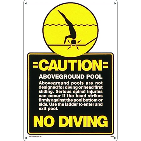 Poolmaster above ground pool no diving sign for - Commercial above ground swimming pools ...