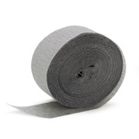 "Cindus Crepe Paper Party Decorating 1.75""x81' Streamers, Dove Grey"