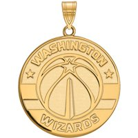 LogoArt NBA Washington Wizards 14kt Gold-Plated Sterling Silver Extra Large Pendant