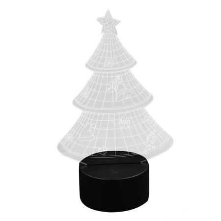 DC5V Christmas Tree 3D Acrylic  Night Light Touch Switch Desk Table Lamp ()