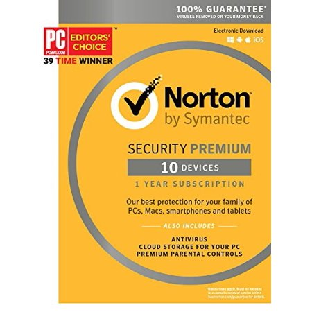 Norton Security Premium - 10 Device [Key Card] - 2019 Ready ()