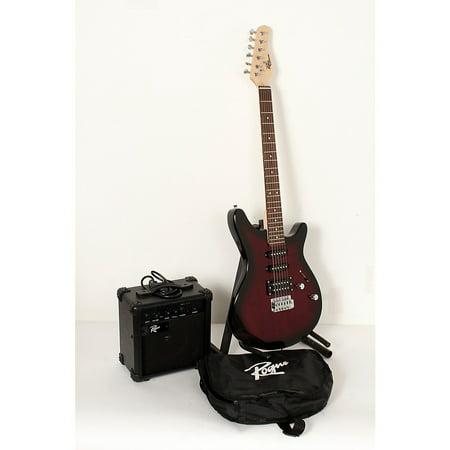 Rogue Rocketeer Electric Guitar Pack Level 2 Wine Burst 888366005996