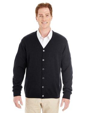 e56efd3ebb62 Product Image Branded Harriton Mens Pilbloc V-Neck Button Cardigan Sweater  - BLACK - XL (Instant