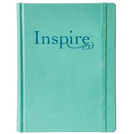 Inspire Bible NLT (Hardcover LeatherLike, Aquamarine) : The Bible for Coloring & Creative Journaling