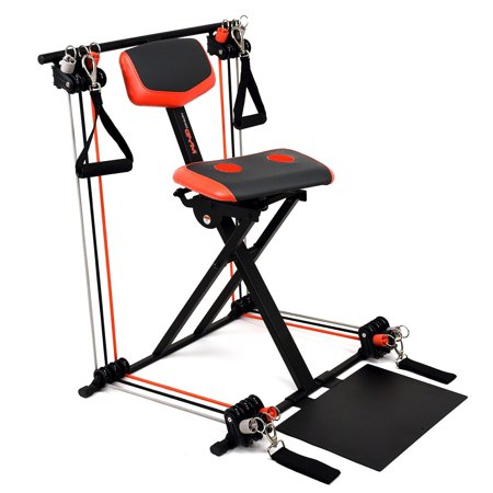 Nano Gym Supreme Total Home Exercise Workout Machine Gel Seat Foot Plate &