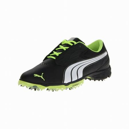fbf20bd110a Puma Biofusion Lite Men s Golf Shoes (Black White Fluorescent Yellow) NEW -  Walmart.com